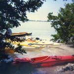 kayaks beached at Indian Key