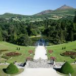 The Italian Gardens of Powerscourt with the Sugarloaf Mountain in the background