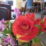 Fresh flowers at every table