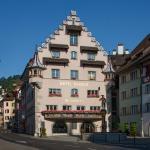 Hotel facade in summer