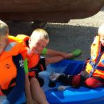 Family day out kayaking