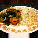 Ch&Chinese veg w/ chickChinese style fried rice