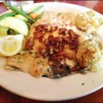 Fresh North Carolina Trout at Falls Landing Restaurant