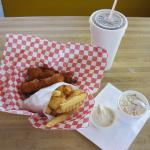 2pc Halibut Special at Cap'n Yoby's Kelso (09/June/15).