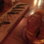 Negroni and Boquerons