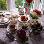 Afternoon Tea. Picture doesn't capture how delectable and beatiful this spread was.