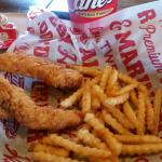 Finger licking good!!! Get you some. **Chicken strips and fries**