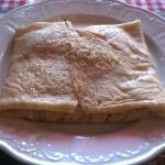 Ham, cheese and egg savoury pancake
