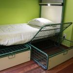 Nellys Sleeptite beds with large luggage baskets