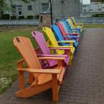 Chairs facing St Lawrence River- great sitting area