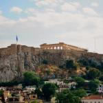 Striking view of the Acropolis and Plaka from the rooftop bar/cafe.
