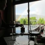 Rainbow and wine = nice time.