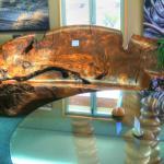 A nice wooden sofa