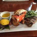 Surf and turf. Looked better than it tasted