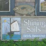 The Shining Sails sign.