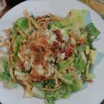 Crab Cake Chipotle Caesar Salad