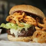 Dave & Tony's Build Your Own Burger with Onion Rings