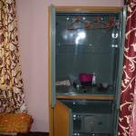 Single metal cupboard in master bedroom