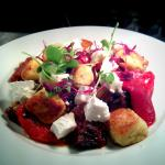Hand Made Gnocchi with Roasted Peppers & Goats Cheese