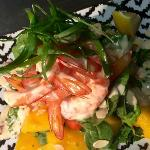 King prawn and Mango salad/chilli lime mayonnaise/toasted almonds