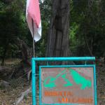 Tanda pintu masuk Kawah Gunung Jaboi