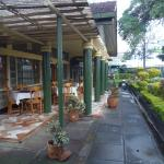 Outdoor dining at Jumuia Guest House, Nakuru, Kenya