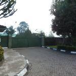 Security gate seen from inside Junuia Guest House parking lot, Nakuru, Kenya