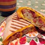 An oooey gooey nummy breakfast burrito!