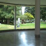 Looking out toward the sculpture garden