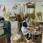 Broom making, bought a multicolored wisk brook for hanging