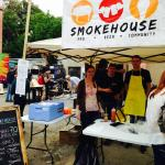Smokehouse BBQ booth at Yard Sale