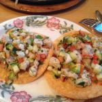 Ordered Tostadas de Ceviche and steak fajitas. Came quickly. Great taste. Quick and friendly ser