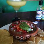 Ceviche and mango margarita = heaven