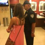 "The ""security guard""  flirting with young girl instead of helping the many disoriented guests"