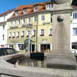 Looking from the square towards the hotel