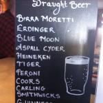 Great selection of draught beer. Also good selection of bottled beer
