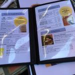 Food is so so and its a typical cafe that has old menus and needs an update in decor and food.