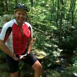 David at Poinsett Bridge - Cycling Route from steps of B&B