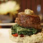 Baseball Cut Top Sirloin, Mashed Potatoes and Wilted Greens