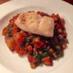 Chick pea & chorizo stew with cod fillet