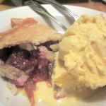 Rhubarb Pie and Ice Cream, Marie Callender's, Sunnyvale, Ca