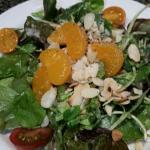 House salad and tuni, rare