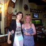 Con Irina, simpática, amable y muy dulce.