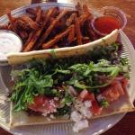 The lamb gyro with sweet potato fries .... Mmmmm