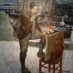 Auguste Oleffe: Portrait du peintre Jehan Frison