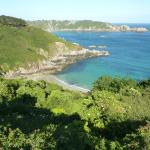 The nearby bays and cliffs are superb