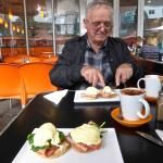 Zdravko with his Egg Benedict