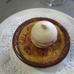 crème brulé au fois gras et macaron fruit exotique