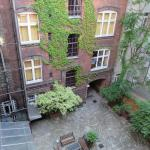 courtyard, viewed from room window