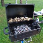 Grilling our catch